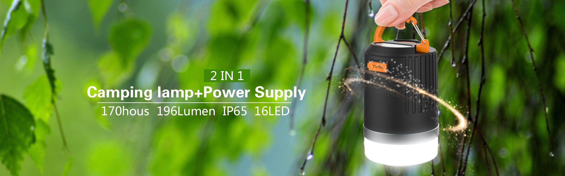 C1 camping lantern& power bank1920X600